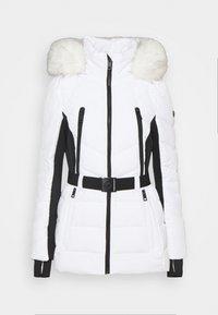 MICHAEL Michael Kors - COLOR BLOCKED BELTED PUFFER COAT - Winter jacket - white/black - 6