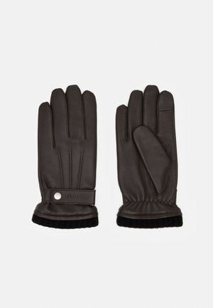 GLOVES SNAP - Gloves - dark brown