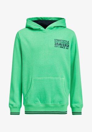 JONGENS MET EN NEONDETAIL - Hoodie - bright green