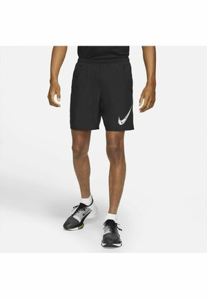 RUN SHORT - Sports shorts - black/white