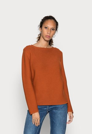 LONGSLEEVE SMALL LINKED ON COLLAR - Jumper - bright rustic orange