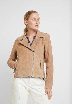KAXENIA JACKET - Leather jacket - tannin