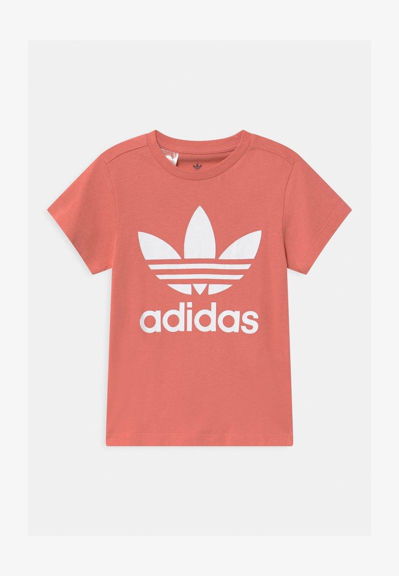 adidas Originals - TREFOIL - Camiseta estampada - hazy rose/white