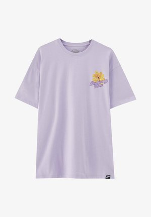 T-shirt med print - purple