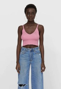 Stradivarius - Top - pink - 0