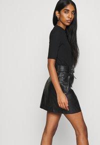 Topshop - HARDWEAR ZIP BIKER SKIRT - A-line skirt - black - 3