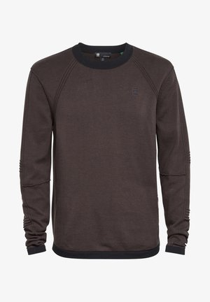 MOTAC STRAIGHT ROUND LONG SLEEVE - Jumper - raven