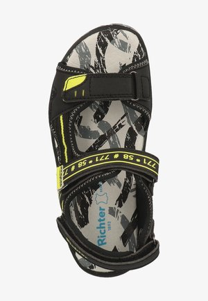 Sandales de randonnée - black/neon yellow 9902