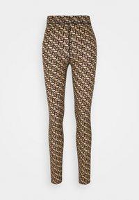 GELOSO STRETCH LOGO - Leggings - Trousers - tan