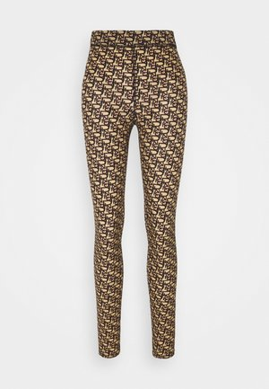 GELOSO STRETCH LOGO - Leggings - tan