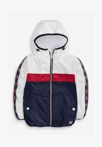 Waterproof jacket - White, Red, Blue