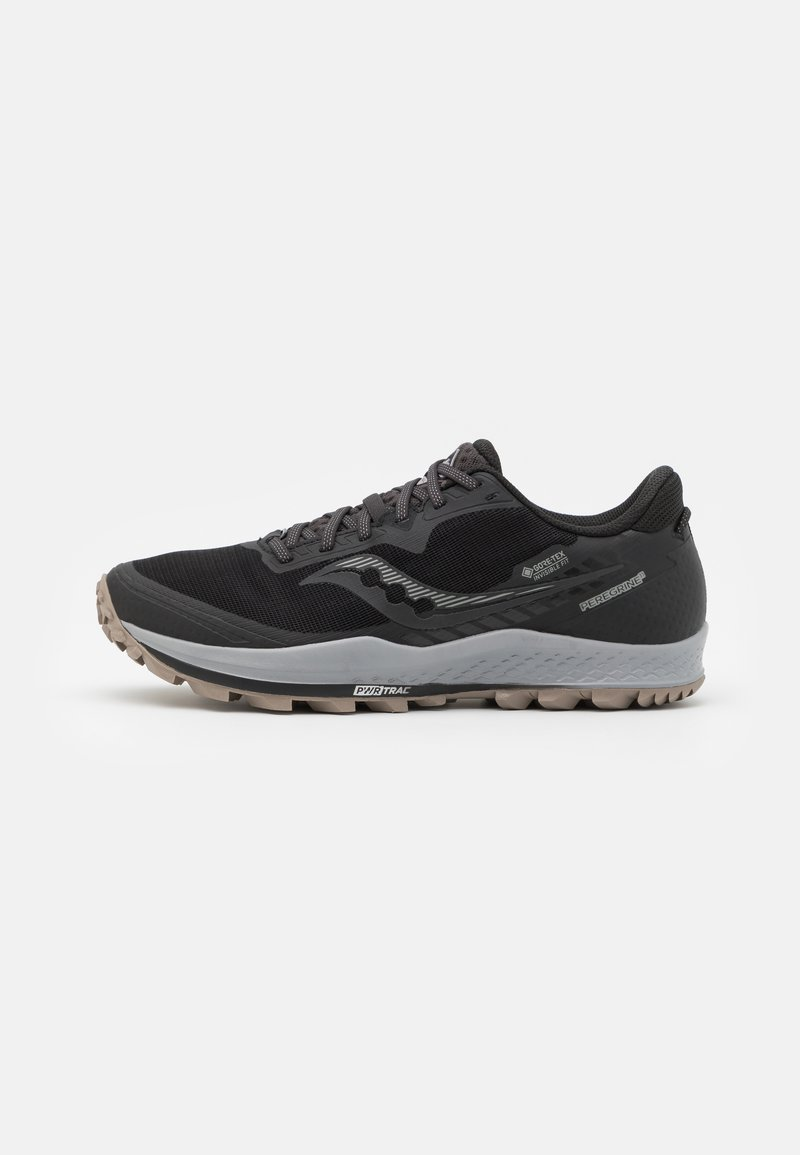 Saucony - PEREGRINE 11 GTX - Běžecké boty do terénu - black/gravel