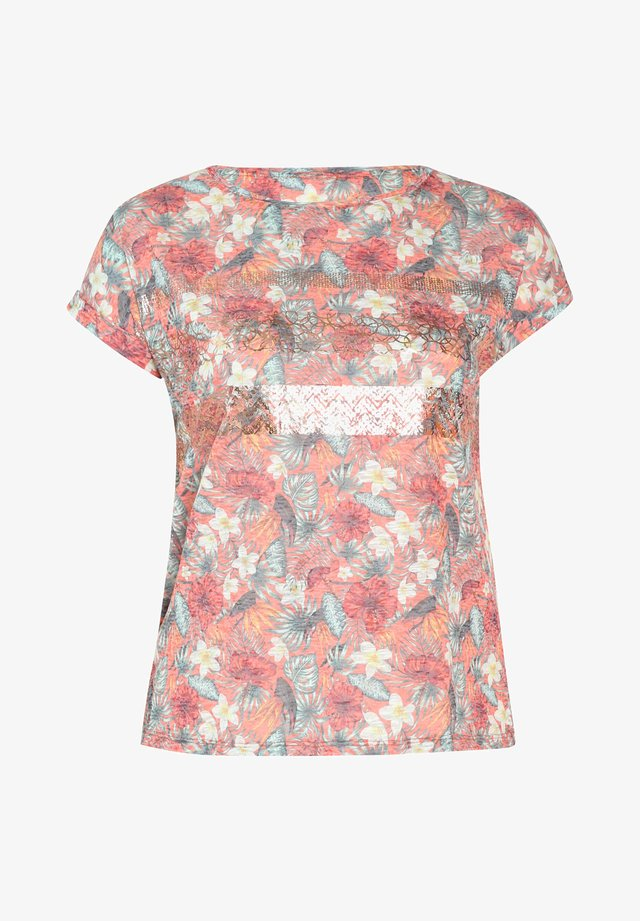 MIT DSCHUNGEL-PRINT - Camiseta estampada - orange