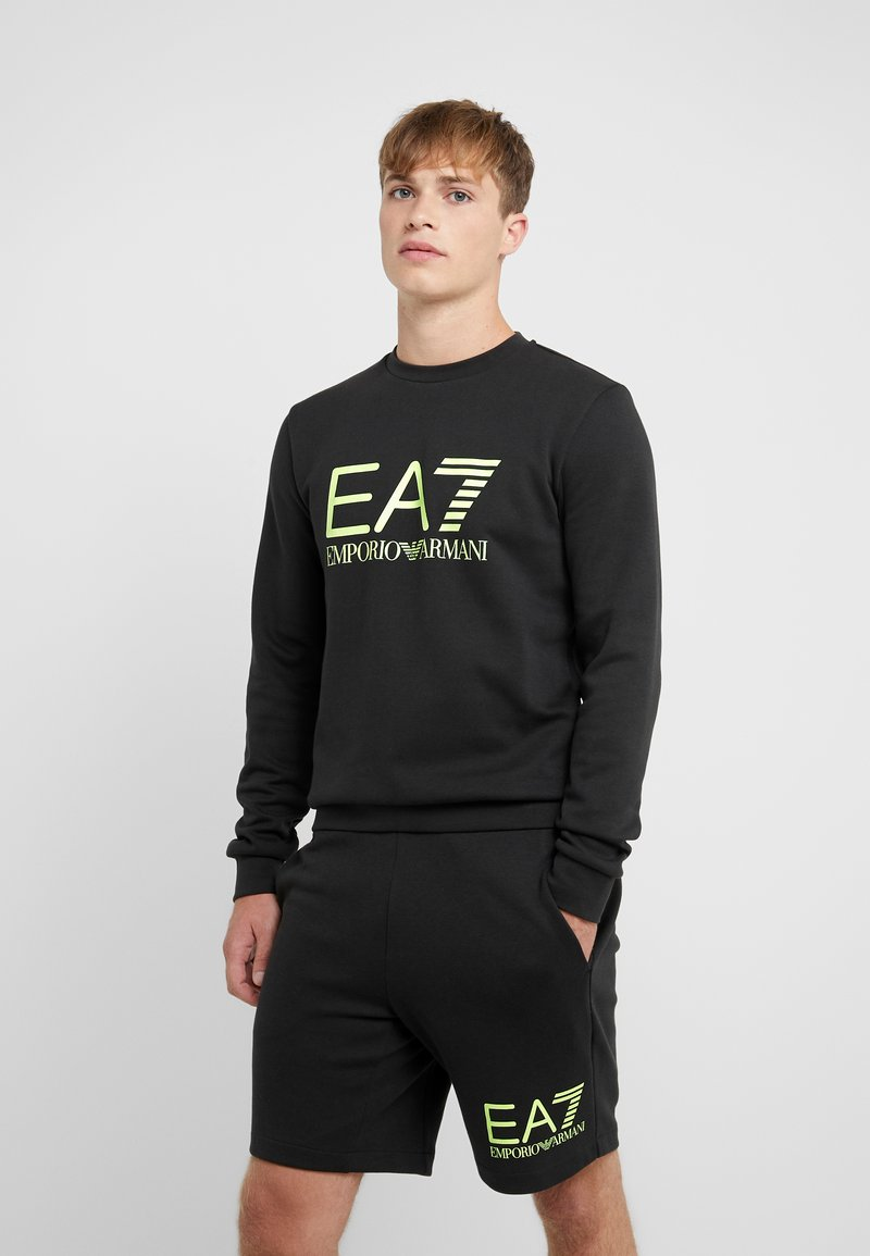 EA7 Emporio Armani - Sweatshirt - black / neon / yellow