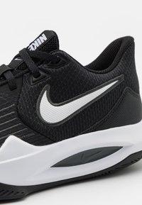 Nike Performance - PRECISION V - Basketball shoes - black/white/anthracite/volt - 5