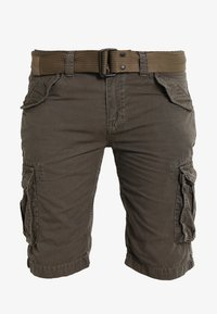 Schott - BATTLE - Shorts - olive - 6