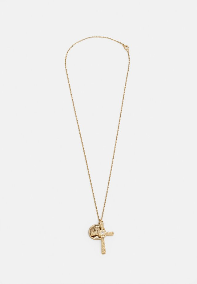 CROSS CLUSTER PENDANT - Collana - gold-coloured