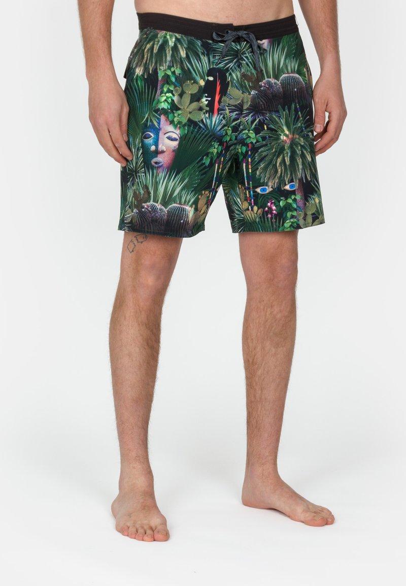 Roark - CHILLER JARDIN OASISS - Swimming shorts - black