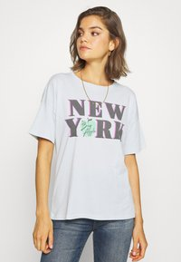 American Eagle - NEW YORK DINER OVERSIZED TEE - Print T-shirt - blue - 0