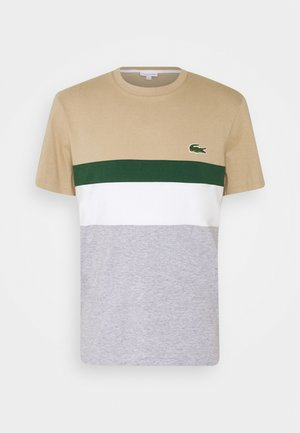 T-shirts print - argent chine/farine/vert/viennois