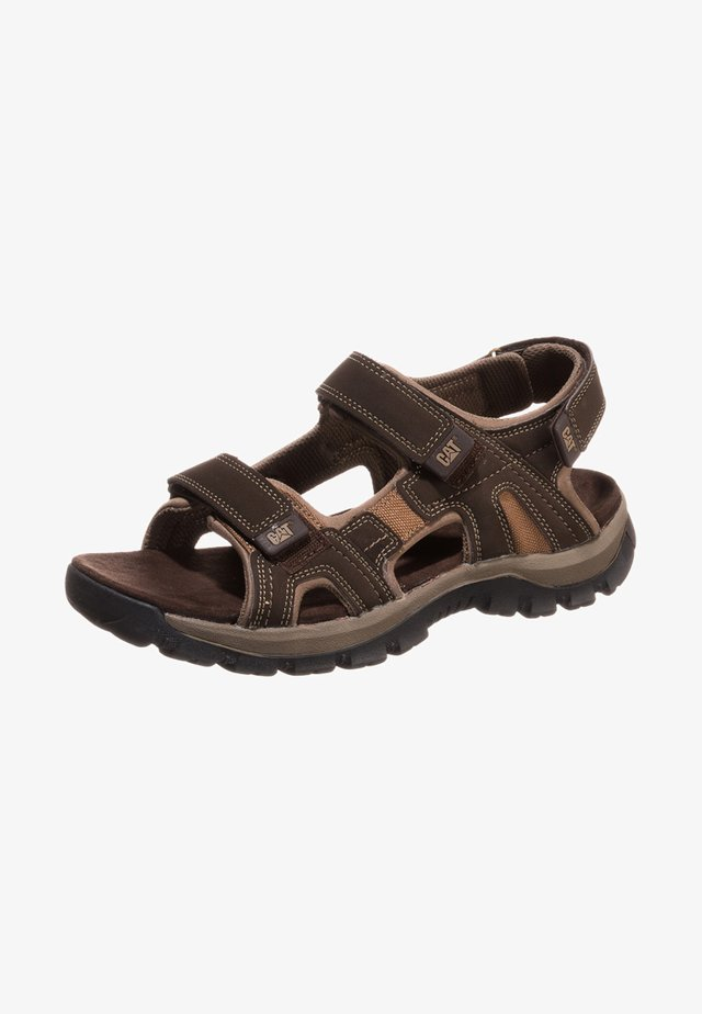GILES - Walking sandals - dark brown