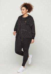 Active by Zizzi - Zip-up hoodie - black - 1