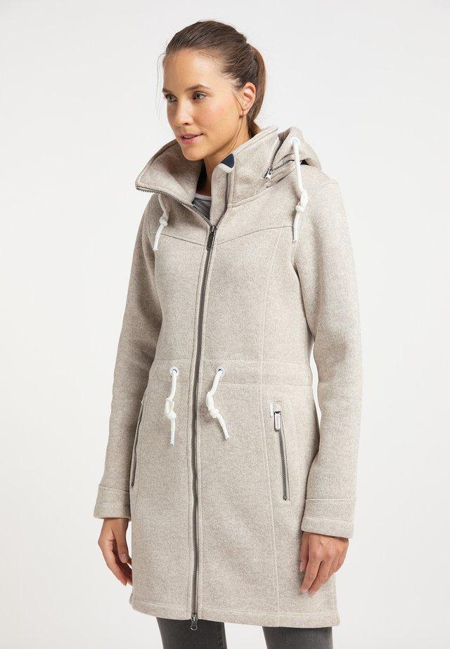 Pitkä takki - elfenbein melange
