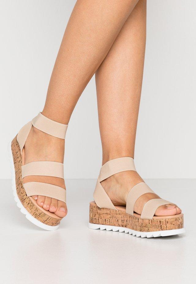 RICO - Korkeakorkoiset sandaalit - nude