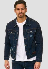 INDICODE JEANS - BRYNE - Denim jacket - dark-blue denim - 0