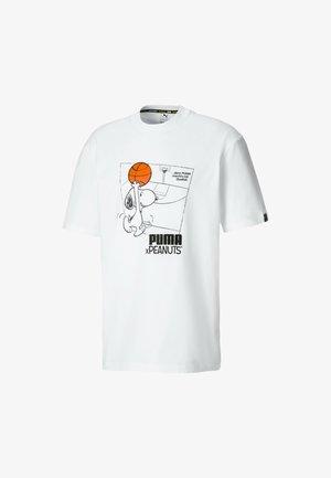 PEANUTS SNOPPY TEE - Print T-shirt -  white