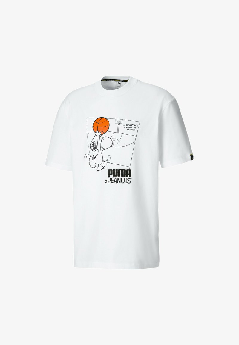 Puma - PEANUTS SNOPPY TEE - Print T-shirt -  white