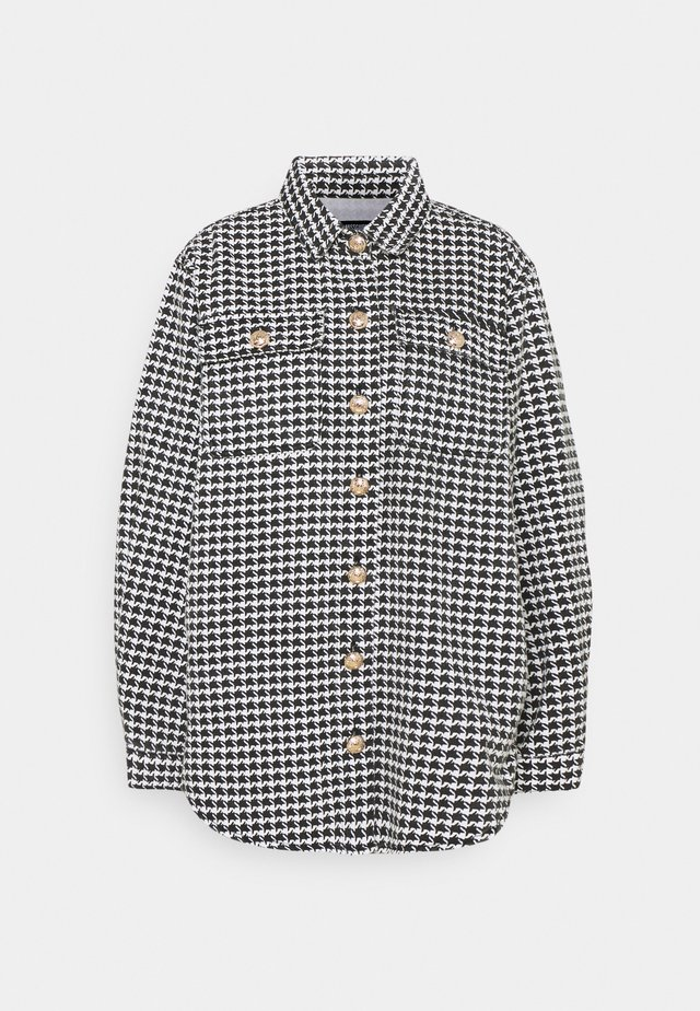 HOUNDSTOOTH - Button-down blouse - black