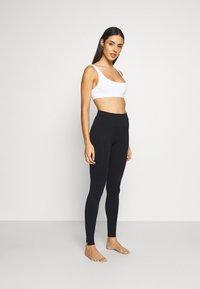 Calvin Klein Underwear - WOMEN LOGO MASON - Leggings - Stockings - black / white - 1