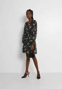 Vero Moda - VMFRAYA V NECK BALLOON DRESS - Shirt dress - black - 1