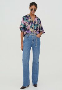 PULL&BEAR - Button-down blouse - purple - 1