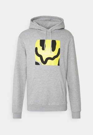 MELTER SQUARE HOOD - Bluza - heather grey