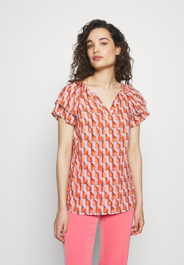 Blouse - pink orange