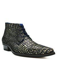 Fertini - Lace-up ankle boots - black croco - 1