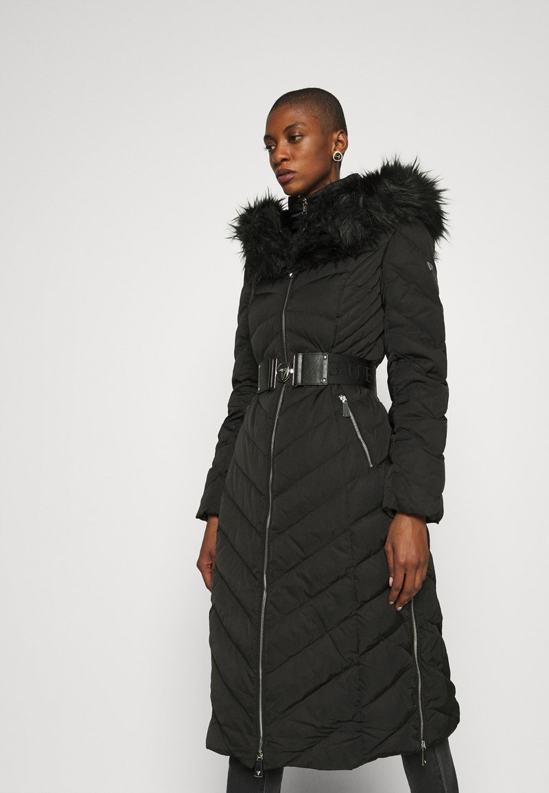 Guess - SOFIA LONG JACKET - Down coat - jet black