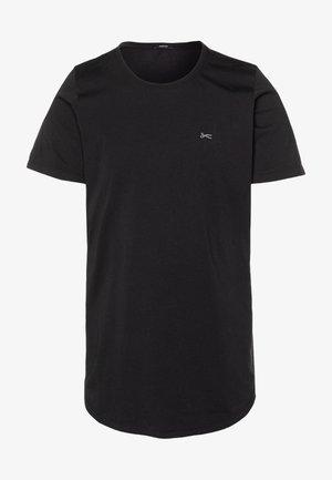 LUIS LONGLINE TEE - Jednoduché triko - black