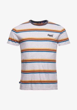 T-Shirt print - light grey marl stripe