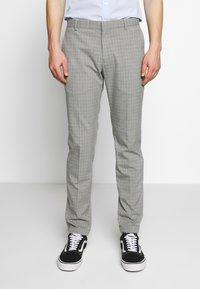 Limehaus - SEMI PLAIN - Kostymbyxor - grey - 0