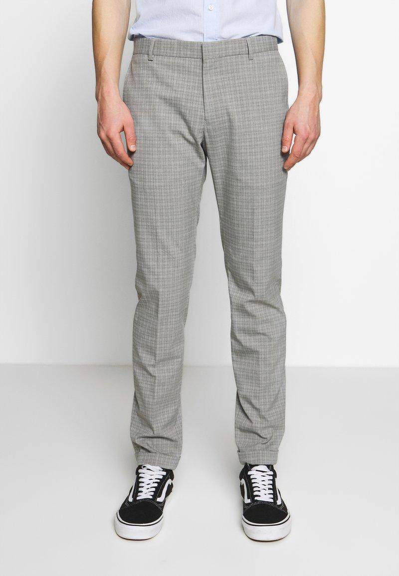 Limehaus - SEMI PLAIN - Kostymbyxor - grey