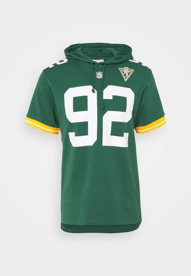 GREEN BAY PACKERS REGGIE HOODED SHORT SLEEVE - Artykuły klubowe - green/white