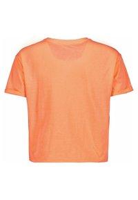 Garcia - WITH PRINT - Print T-shirt - peach neon - 1
