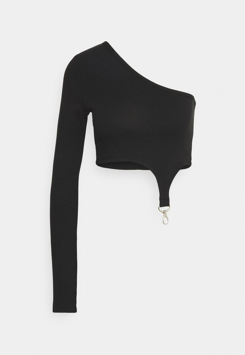The Ragged Priest - AYSYMETRIC TRIGGER STRAP TOP - Topper langermet - black