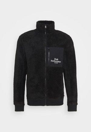 ORIGINAL PILE ZIP JACK - Fleece jacket - black