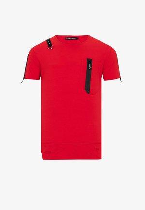 MIT ASYMMETRISCHEN APPLIKATIONEN - Print T-shirt - red