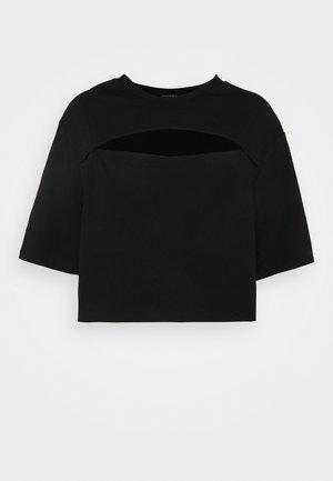 T-shirt con stampa - black dark