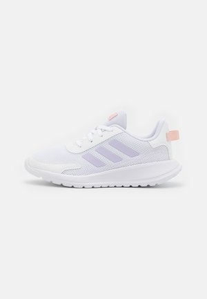 TENSAUR RUN UNISEX - Zapatillas de running neutras - footwear white/purple tint/vapour pink